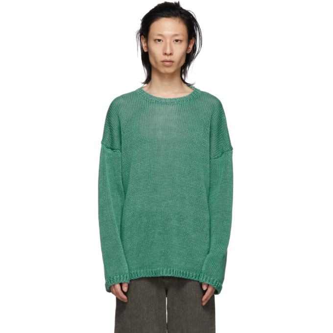 Photo: Our Legacy Green Knit Popover Sweater