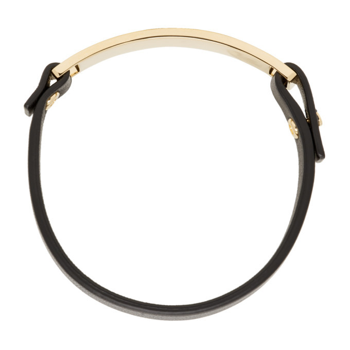 Bottega Veneta Black Single Strap Bracelet