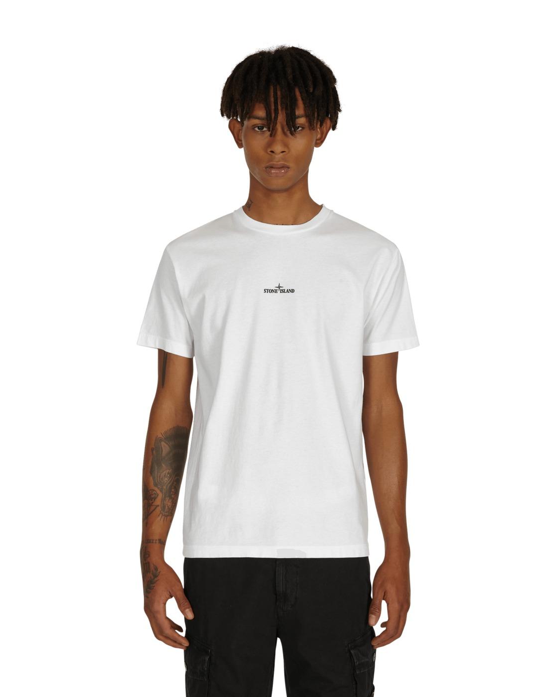 Stone Island Big Logo T Shirt White