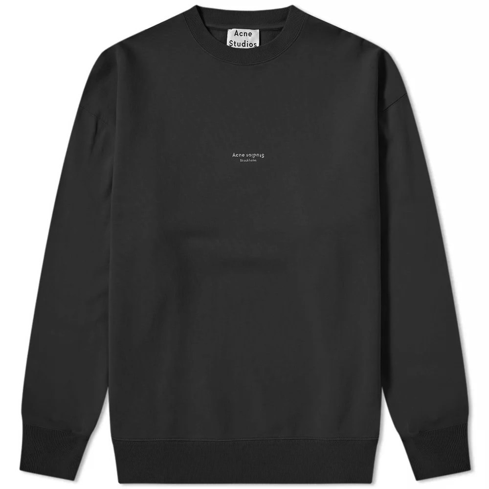 Acne Studios Garment Dyed Crew Sweat Black