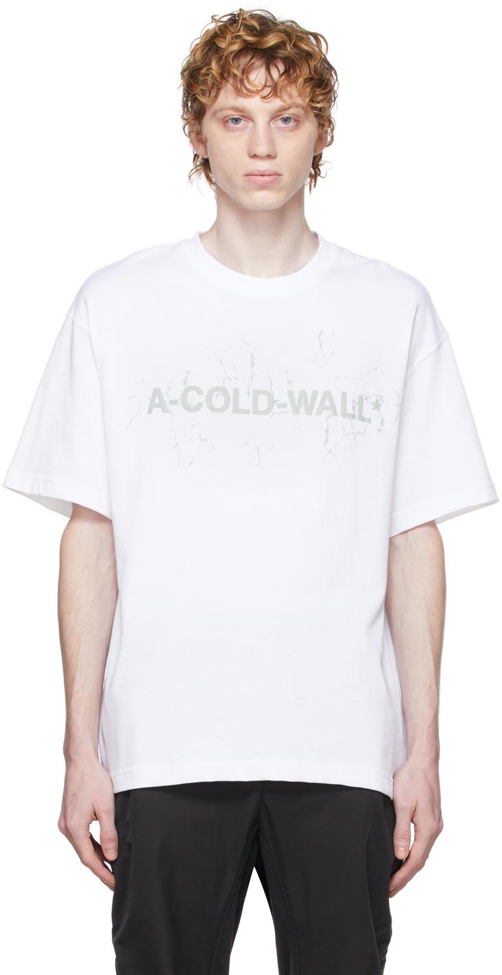 Photo: A-COLD-WALL* White Logo T-Shirt