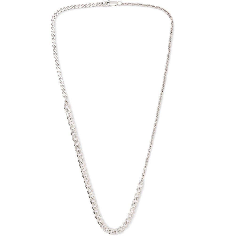 Photo: Bottega Veneta - Sterling Silver Necklace - Silver