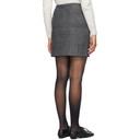 Nina Ricci Grey Wool Slit Miniskirt