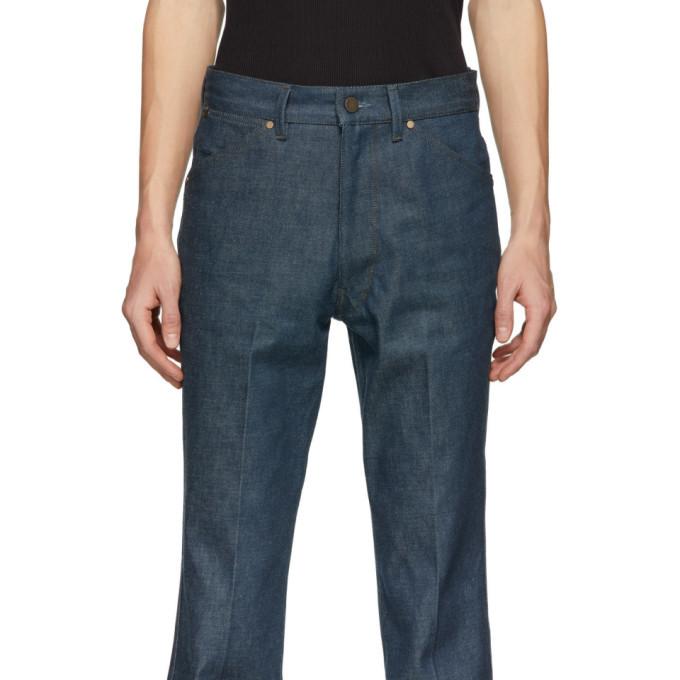 Lemaire Blue Denim Bootcut Jeans