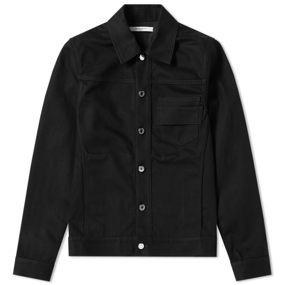 Photo: Givenchy Paris Embroidered Denim Jacket Black