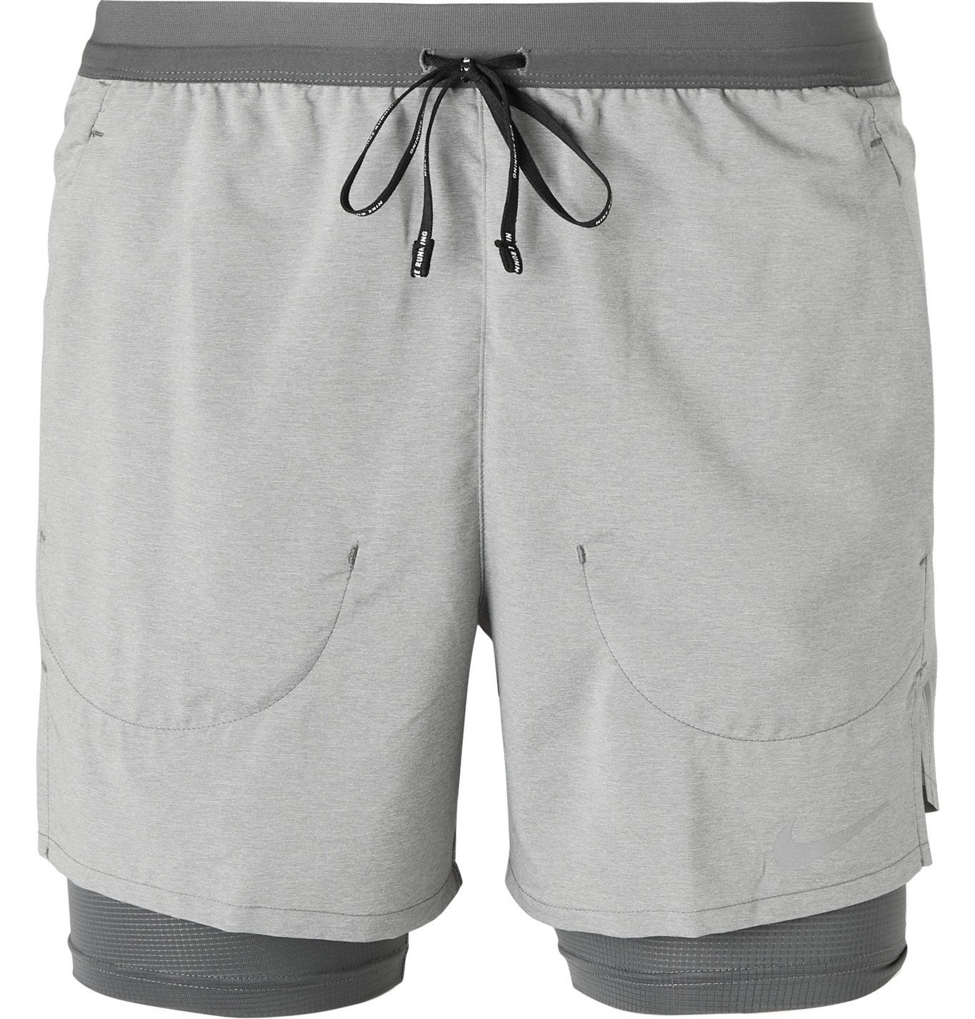 Photo: Nike Running - Stride 2-In-1 Flex Dri-FIT Shorts - Gray