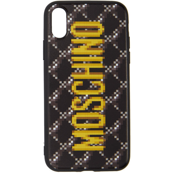 Photo: Moschino Black The Sims Edition Quilted iPhone XS/X Case