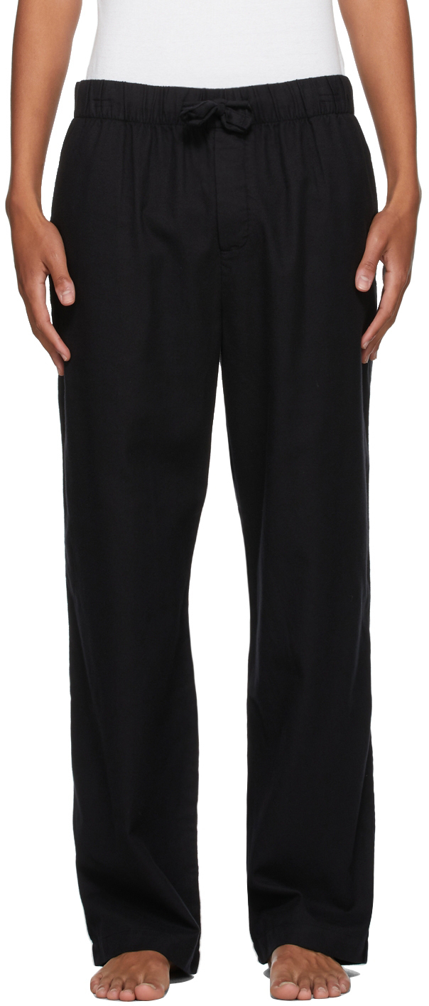 Photo: Tekla Black Flannel Pyjama Pants