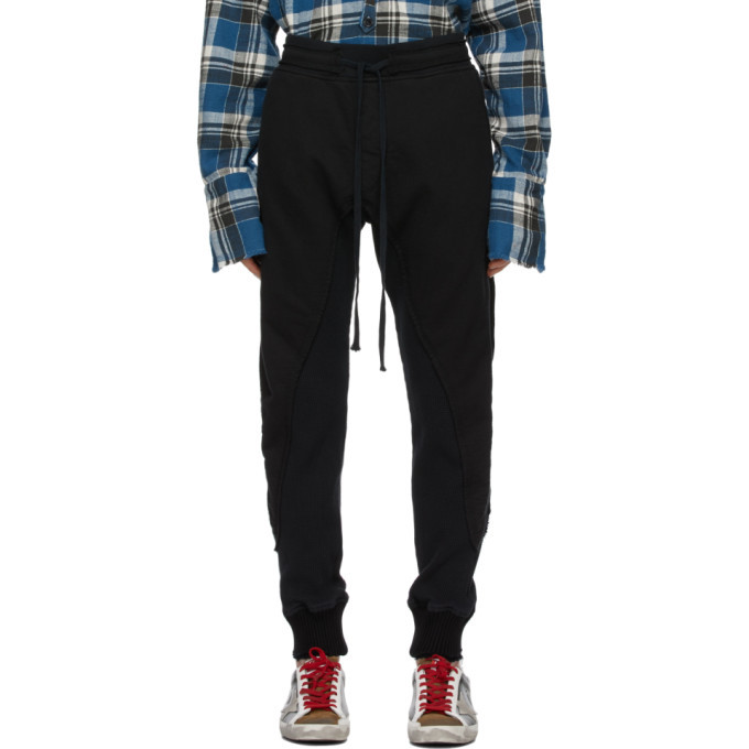 Photo: Greg Lauren Black Fleece Waffle 50/50 Lounge Pants