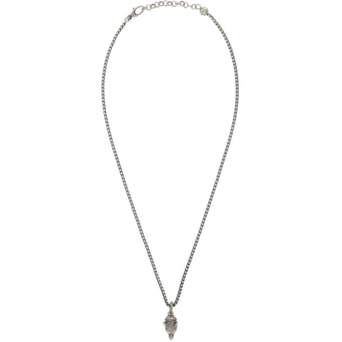 Photo: Gucci Silver Anger Forest Wolf Necklace