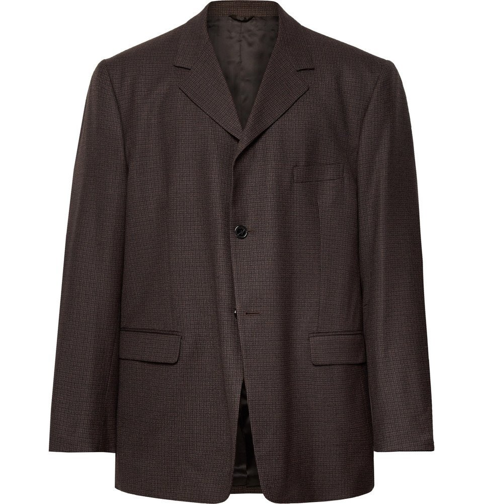 Raf Simons - Brown Oversized Checked Wool Suit Jacket - Brown