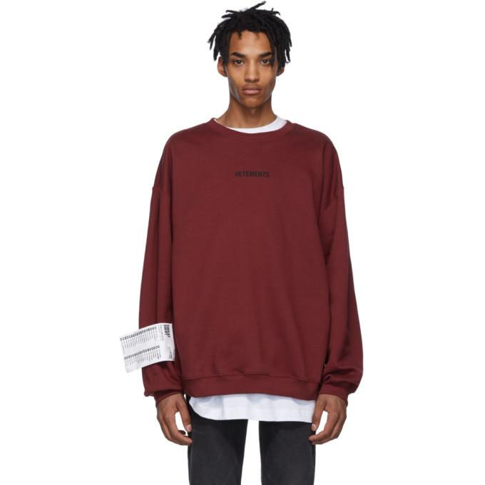 Photo: Vetements Red Logo Sweatshirt