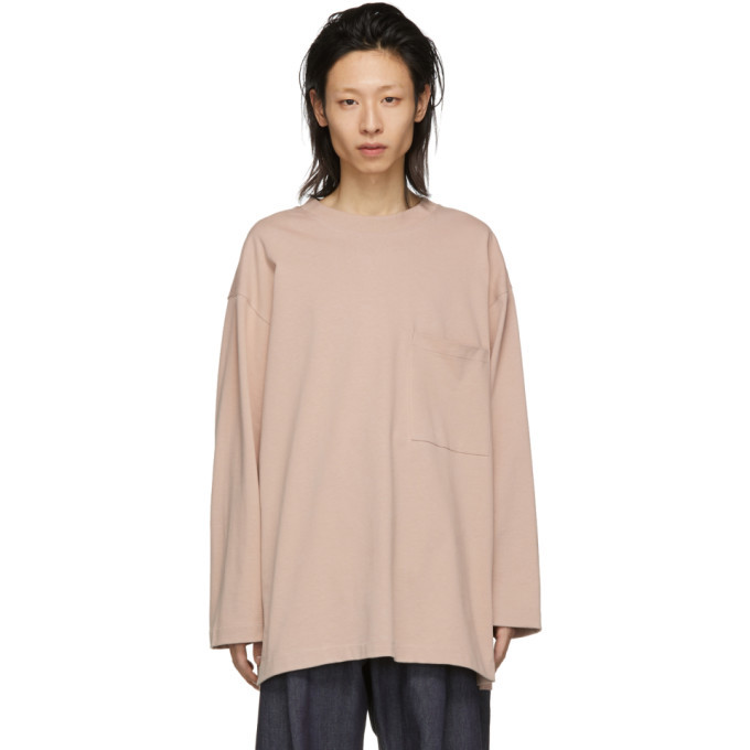 Photo: Lemaire Pink Heavy Cotton Long Sleeve T-Shirt