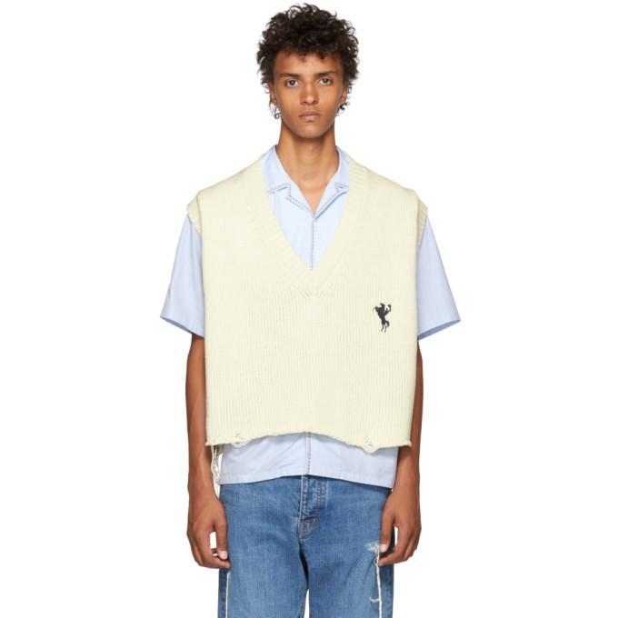 Photo: Doublet White Oversized Broken Vest