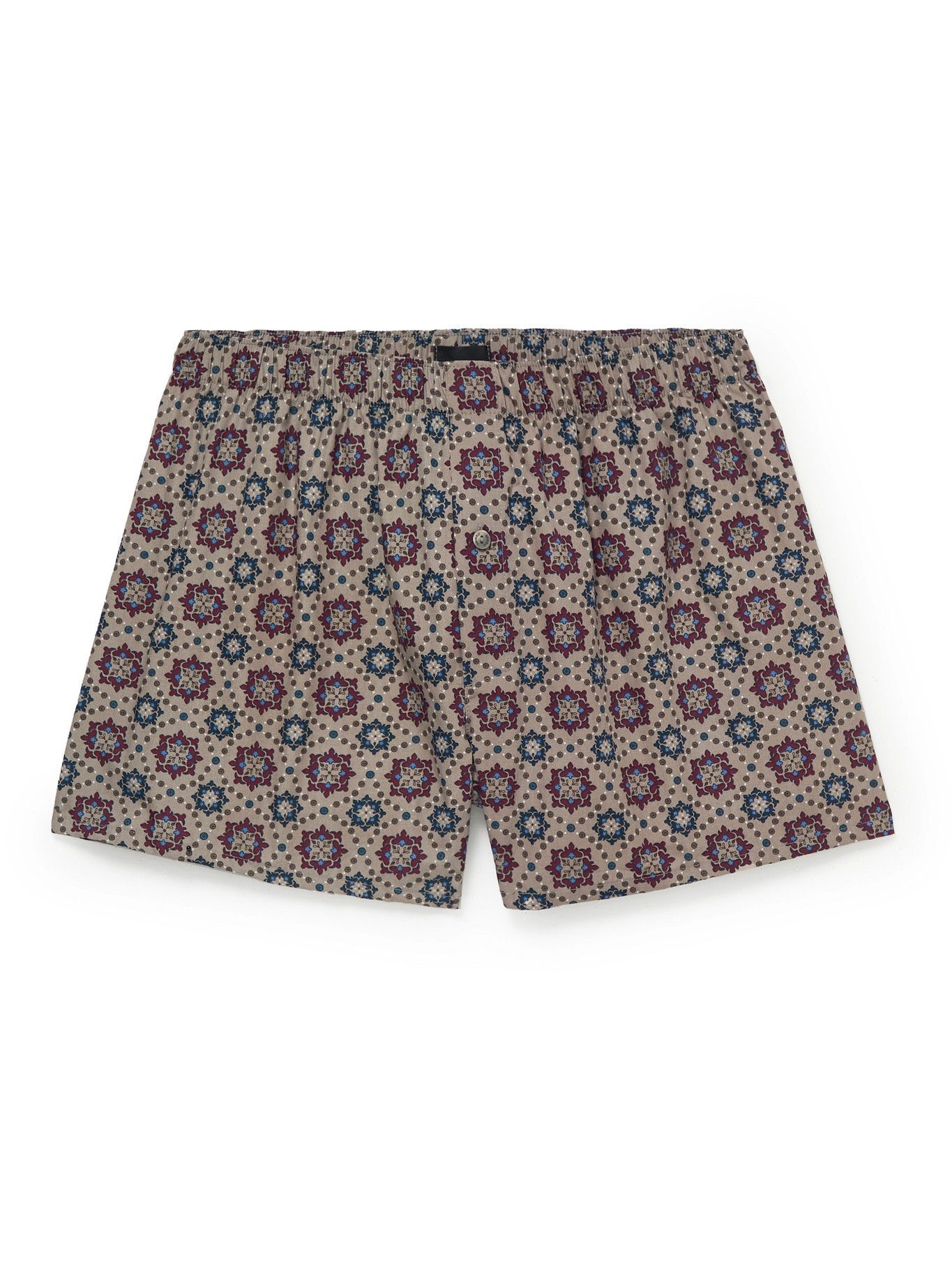 Photo: Hanro - Fancy Printed Cotton Boxer Shorts - Red