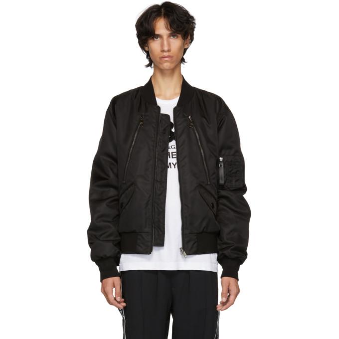 Photo: Dolce and Gabbana Reversible Black Bomber Jacket