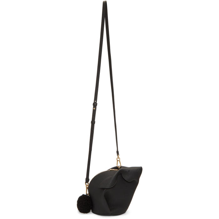 Photo: Loewe Black Mini Bunny Bag