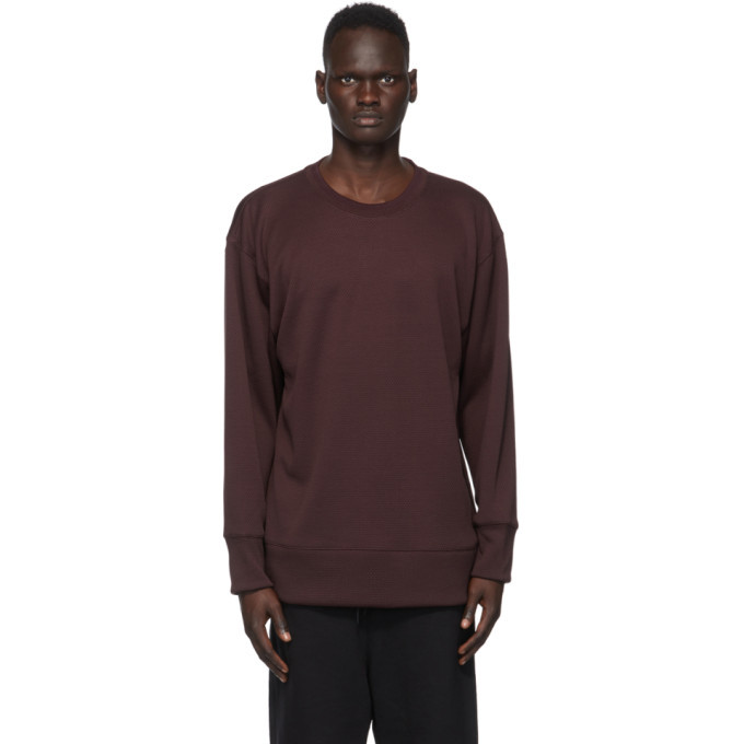 Photo: Y-3 Burgundy Mesh CH2 GFX Sweatshirt