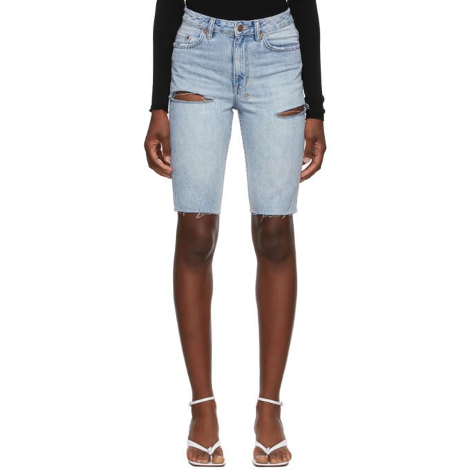Ksubi Blue Denim App-Laye Shorts