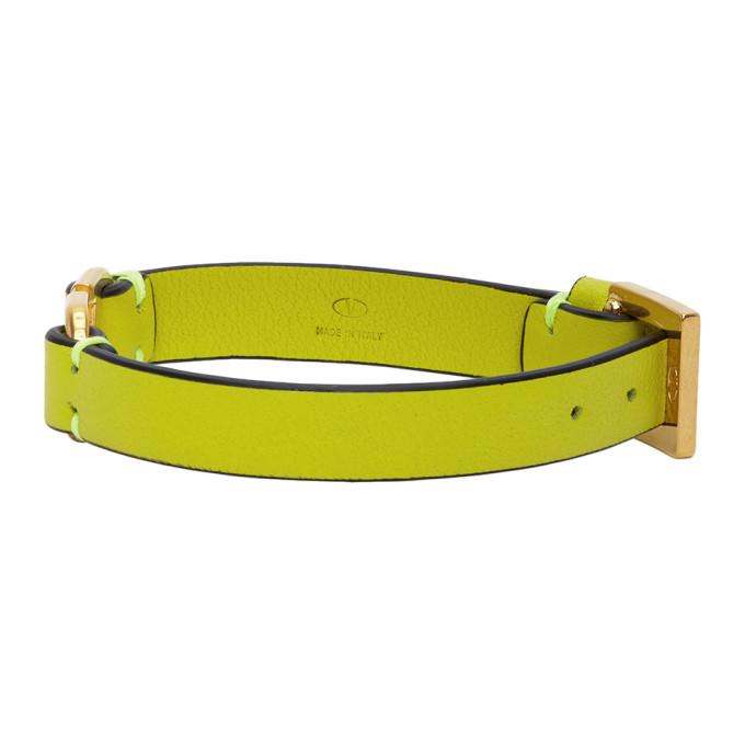 Valentino Green Valentino Garavani VLogo Bracelet