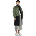Sacai Navy and Khaki Wool Melton Coat