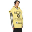 Raf Simons SSENSE Exclusive Yellow Peter De Potter Edition Kollaps Hoodie