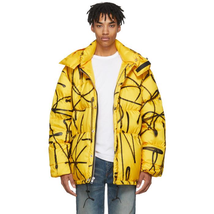 Photo: Adaptation Yellow Down Saber Graffiti Puffer Jacket