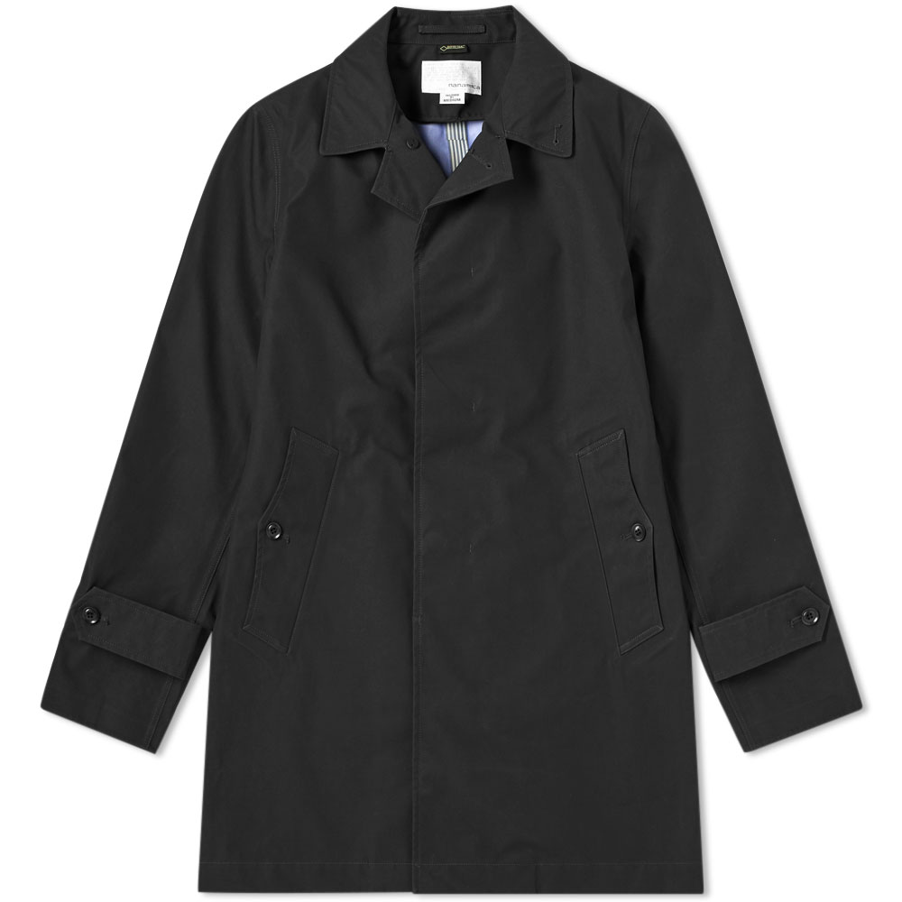 Photo: Nanamica Gore-Tex Soutien Collar Coat Black
