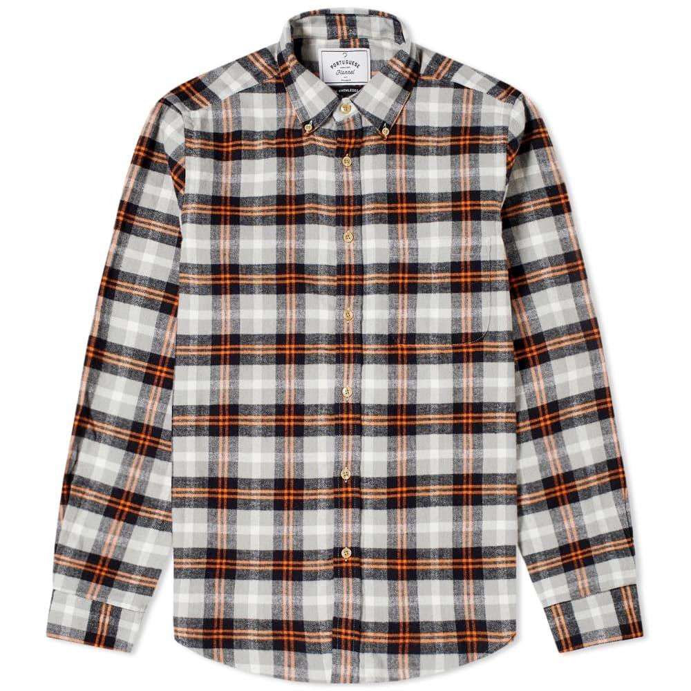 Photo: Portuguese Flannel Flashlight Button Down Check Shirt