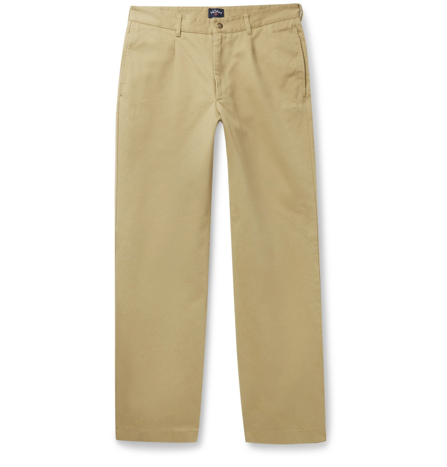 Photo: Noah - Pleated Brushed-Cotton Chinos - Neutrals