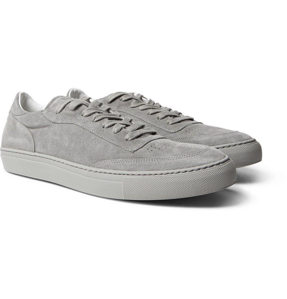 Photo: Officine Generale - Matt Perforated Suede Sneakers - Men - Gray