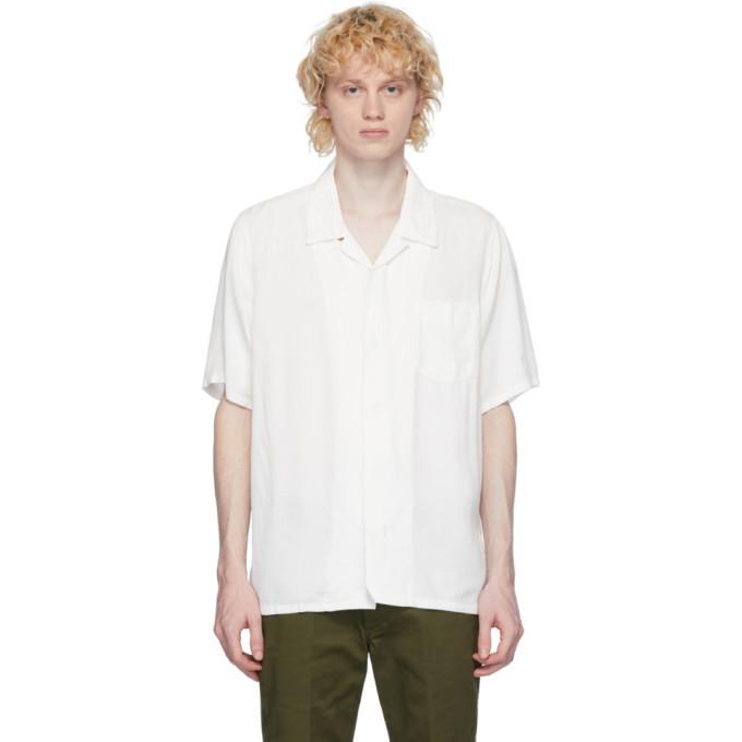 Photo: Visvim White Rayon Free Edge Shirt