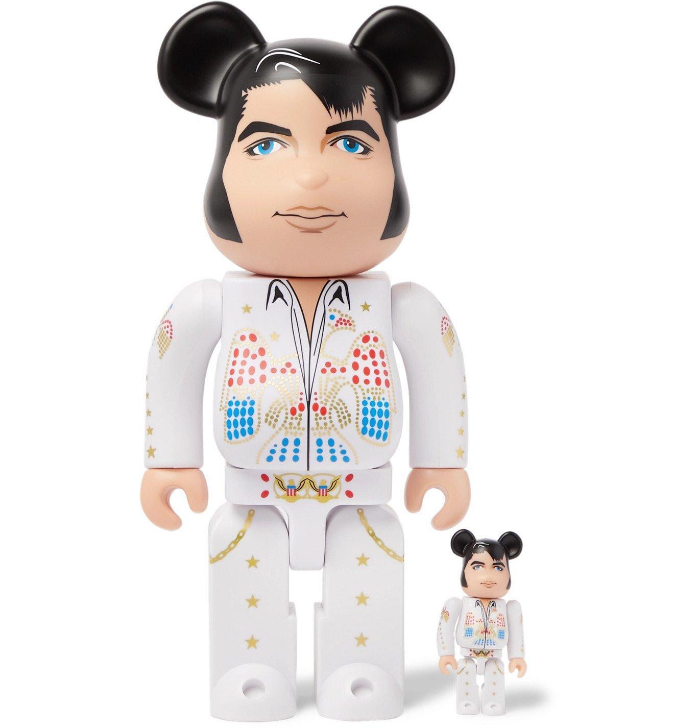 Photo: BE@RBRICK - 100% 400% Elvis Presley Figurine Set - White