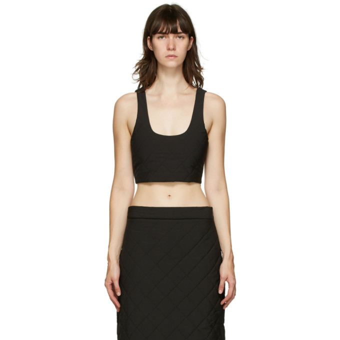Photo: Markoo Black Quilted Scoop Neck Tank Top