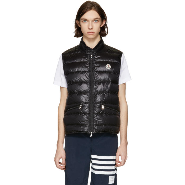 Photo: Moncler Black Down Gui Gilet Vest