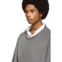 Raf Simons Grey Oversized Lurex Sweater