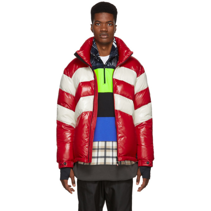 Photo: Moncler Grenoble Red and Off-White Down Golzern Jacket