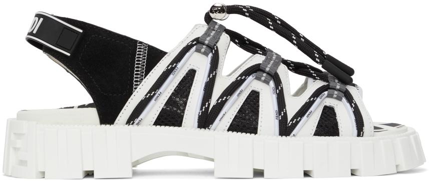 Photo: Fendi Black & White FF Vertigo 'Fendi Force' Sandals