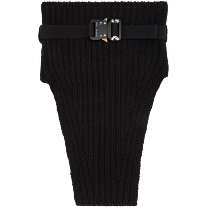 Photo: 1017 ALYX 9SM Black Knit Buckle Neck Warmer Scarf