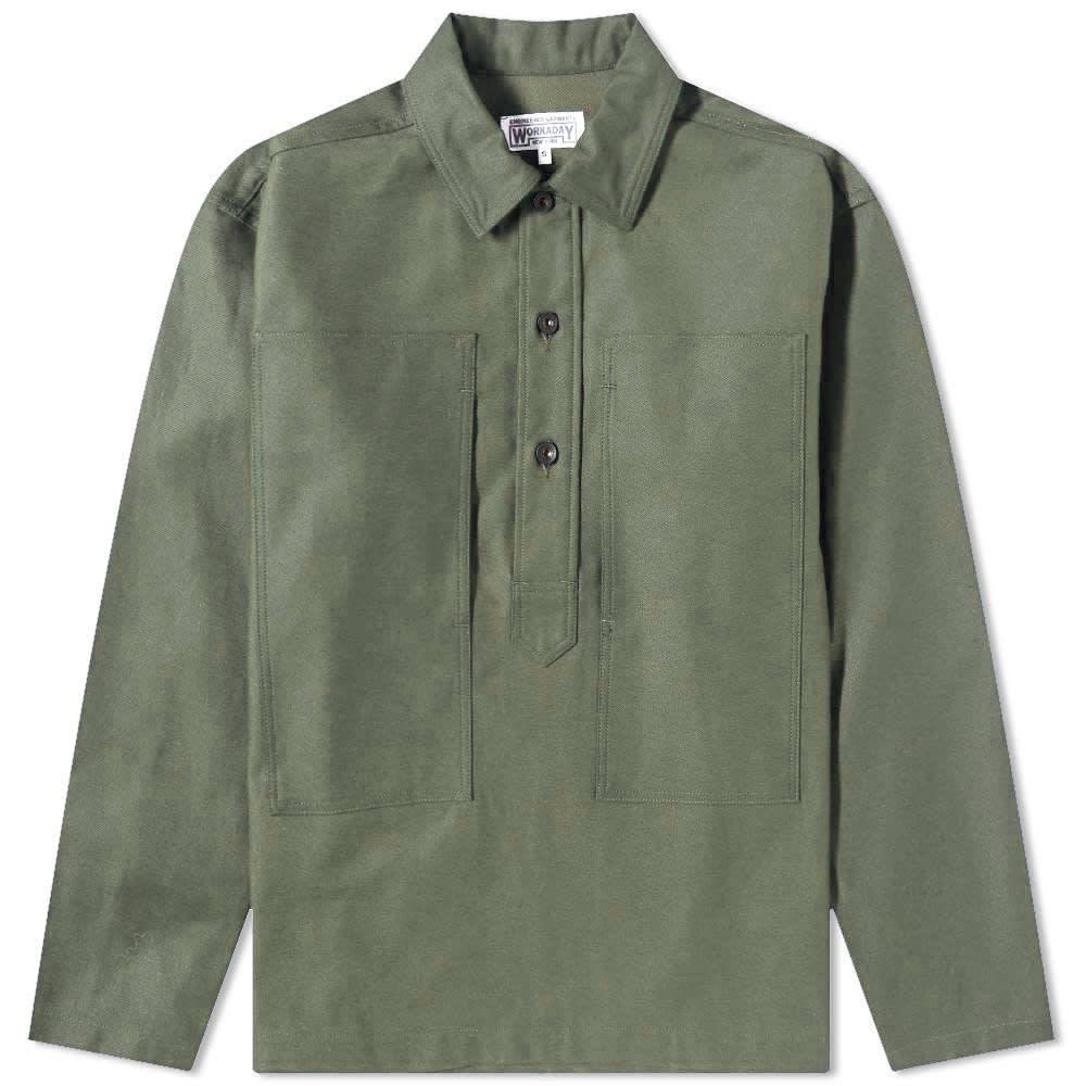 Photo: Engineered Garments Workaday Cotton Sateen AR Overshirt