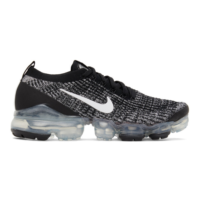 Photo: Nike Black and White Air VaporMax 2020 Flyknit 3 Sneakers