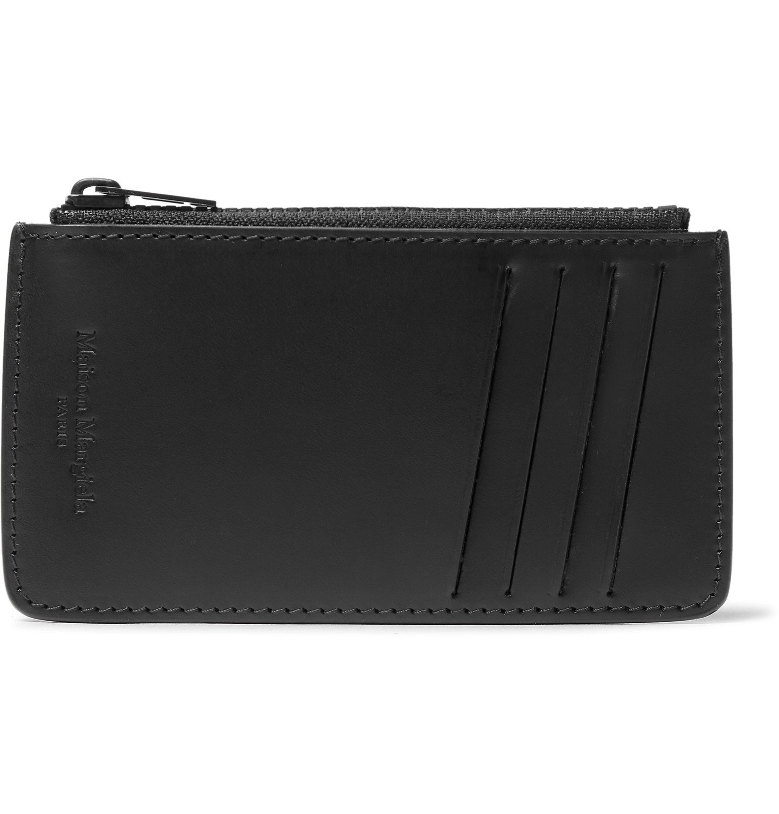 Photo: Maison Margiela - Leather Zipped Cardholder - Black