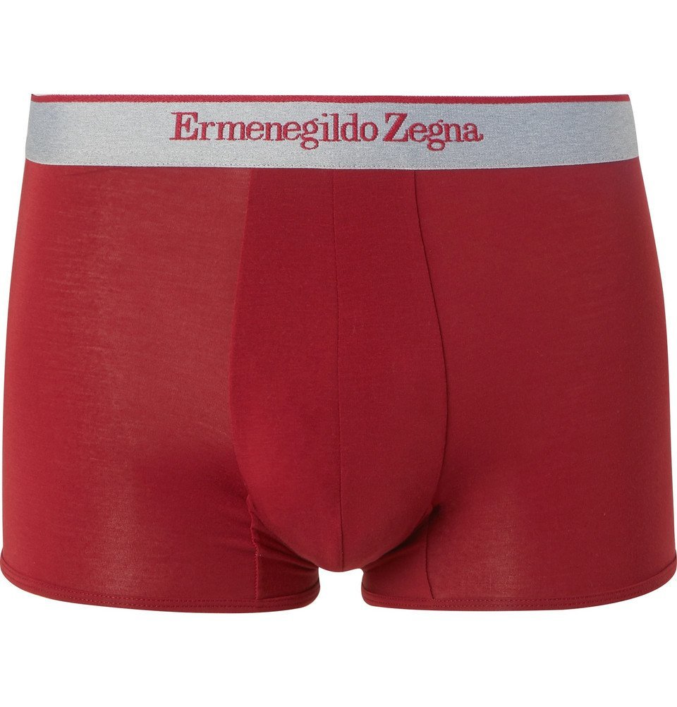 Photo: Ermenegildo Zegna - Stretch-Modal Jersey Boxer Briefs - Red