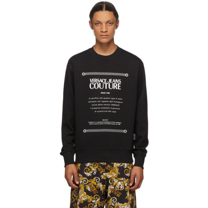 Photo: Versace Jeans Couture Black Warranty Label Sweatshirt