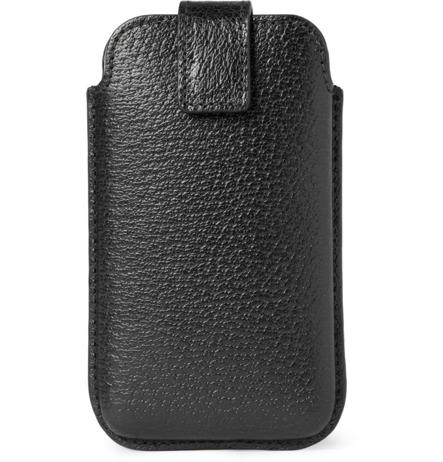 Smythson - Leather Smartphone Case - Black