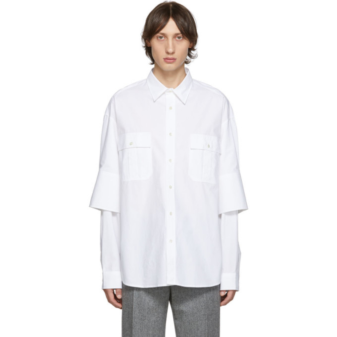 Photo: JW Anderson White Double Cuffs Shirt
