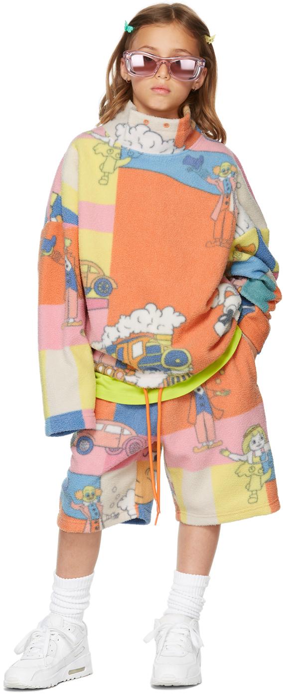 Photo: Martine Rose SSENSE Exclusive Kids Multicolor Fleece Bongo Batwing Pullover