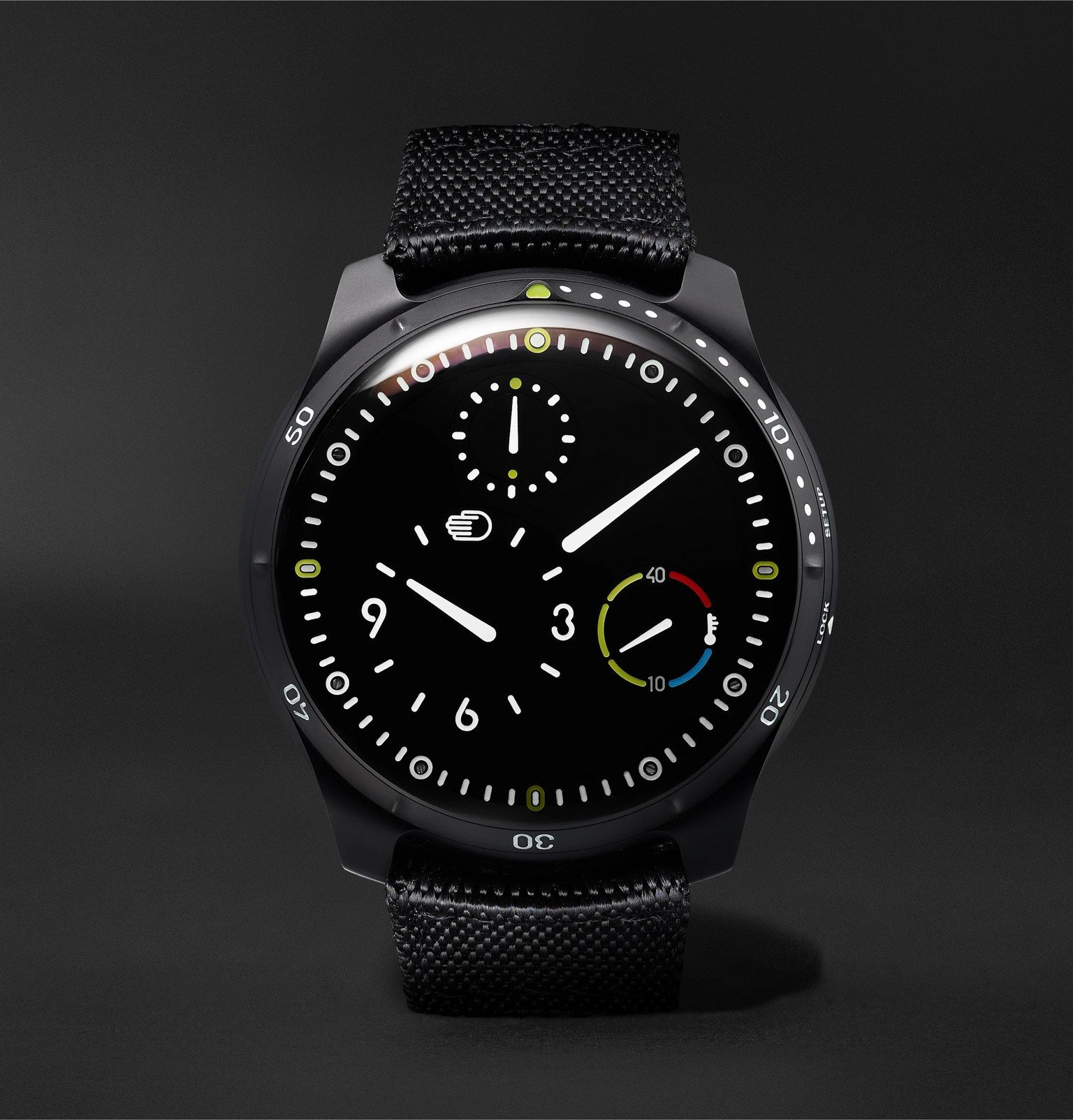 Photo: Ressence - Type 5BB Automatic 46mm DLC-Coated Titanium and Leather Watch - Black