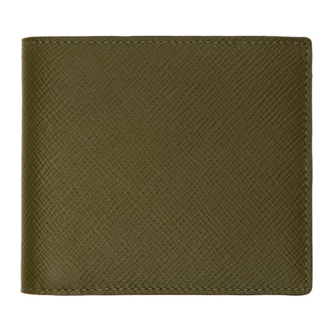 Photo: Smythson Green Panama 6CC Wallet