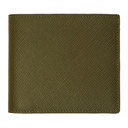 Smythson Green Panama 6CC Wallet